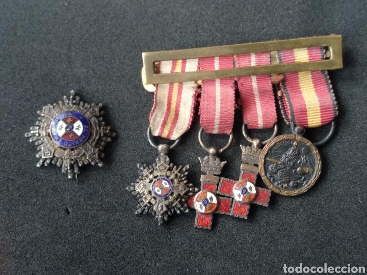PASADOR MINIATURA MEDALLAS ESPAÑOLAS (Militar - Medallas Españolas Originales )
