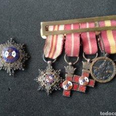 Militaria: PASADOR MINIATURA MEDALLAS ESPAÑOLAS. Lote 198958392