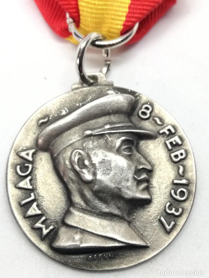 RÉPLICA MEDALLA TOMA DE MÁLAGA. 8-2-1937. GUERRA CIVIL ESPAÑOLA. 1936-1939. GENERAL QUEIPO DE LLANO. (Militar - Reproducciones y Réplicas de Medallas )