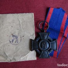 Militaria: CONDECORACIÓN MEDALLA ALEMANA CRUZ DE FRIEDRICH AUGUST (FA) I GUERRA MUNDIAL AÑO 1914 CON SU SOBRE. Lote 199498286