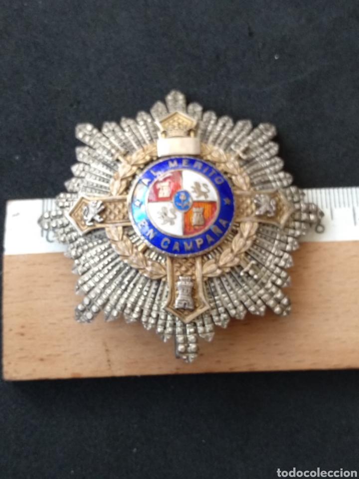 Militaria: Placa de plata y esmaltes al mérito militar - Foto 2 - 199831210