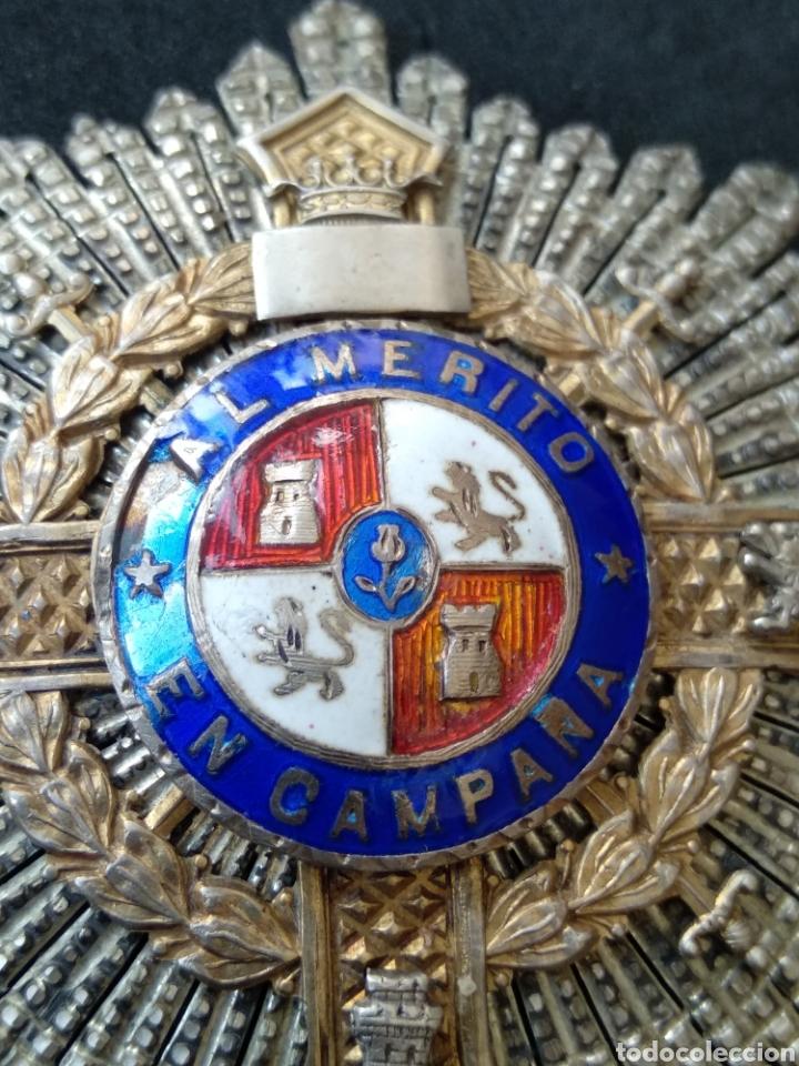 Militaria: Placa de plata y esmaltes al mérito militar - Foto 3 - 199831210