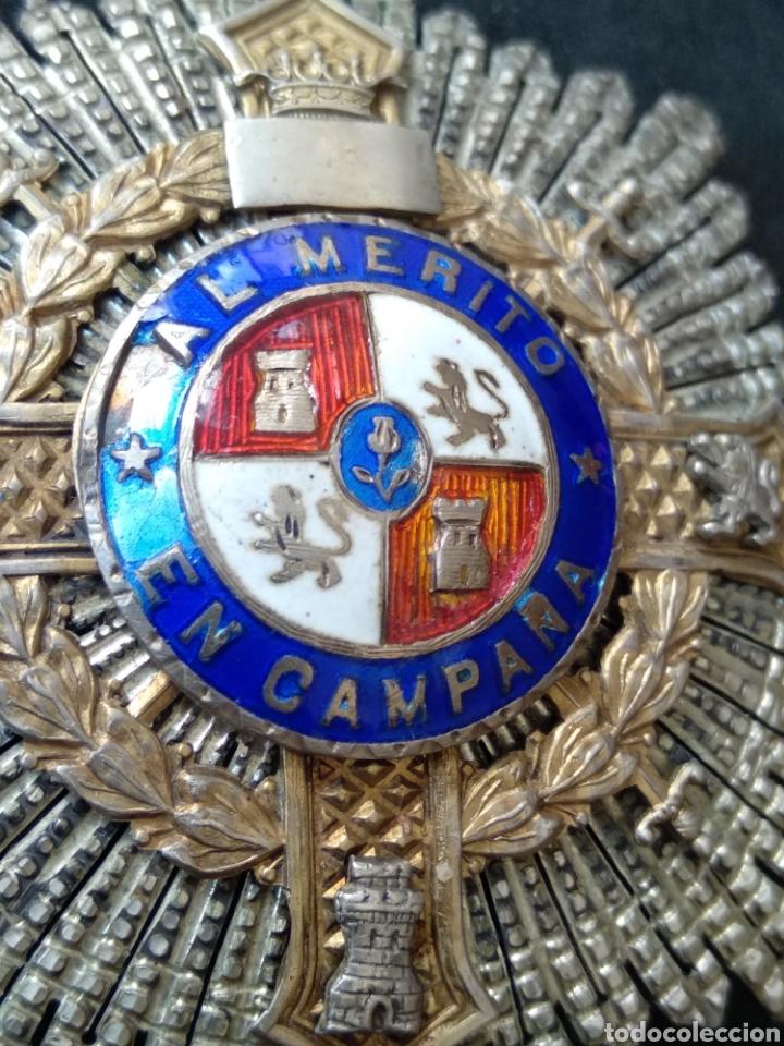 Militaria: Placa de plata y esmaltes al mérito militar - Foto 4 - 199831210