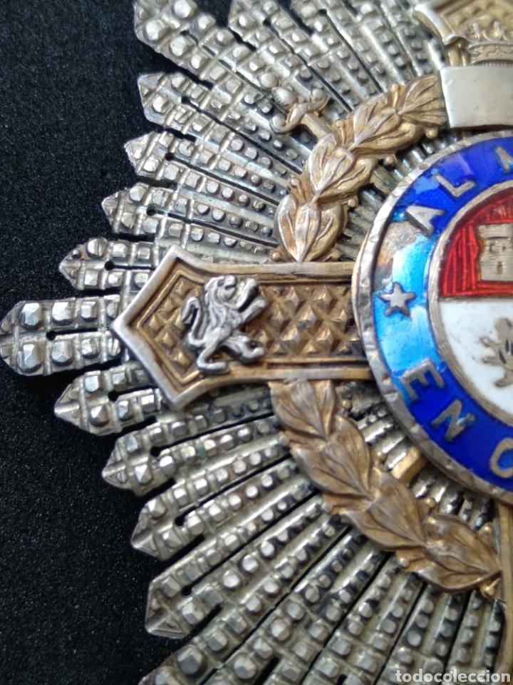 Militaria: Placa de plata y esmaltes al mérito militar - Foto 5 - 199831210