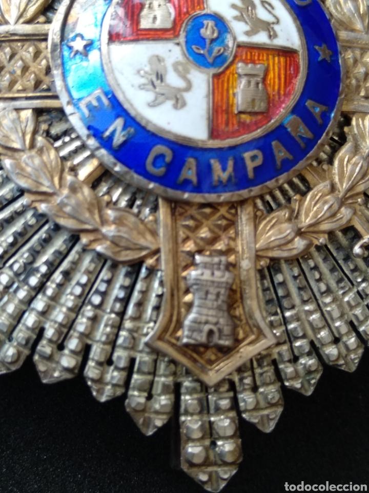 Militaria: Placa de plata y esmaltes al mérito militar - Foto 6 - 199831210