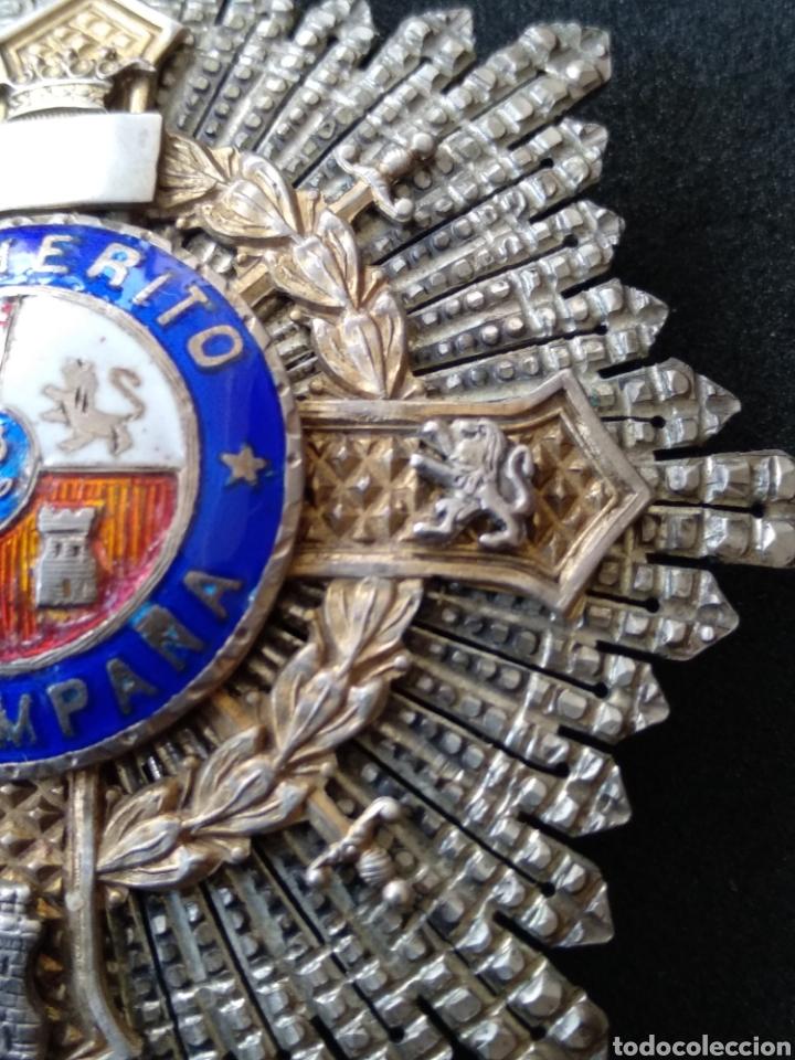 Militaria: Placa de plata y esmaltes al mérito militar - Foto 7 - 199831210
