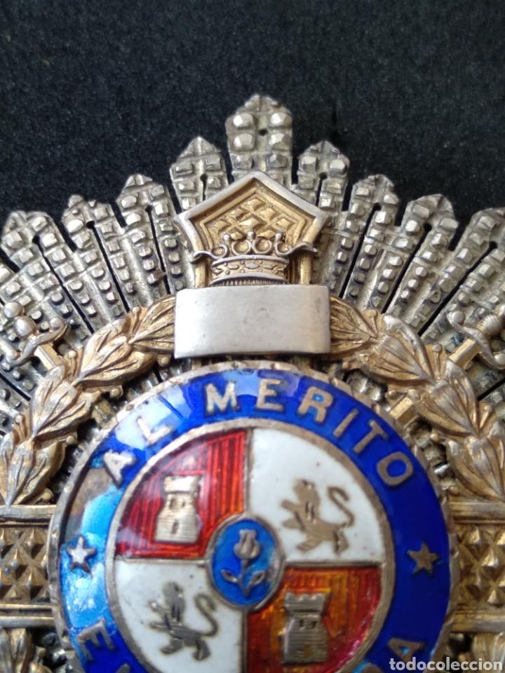 Militaria: Placa de plata y esmaltes al mérito militar - Foto 9 - 199831210