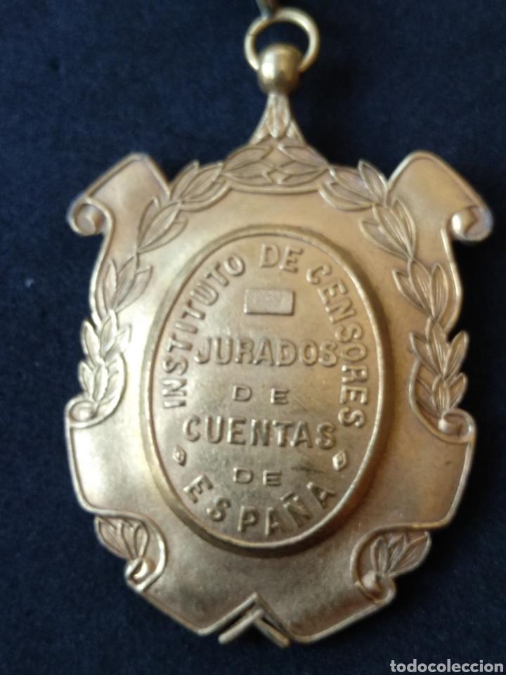 MEDALLA INSTITUTO DE CENSORES JURADOS DE CUENTAS (Militar - Medallas Españolas Originales )