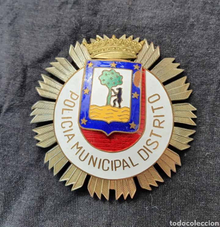 PLACA DE POLICÍA MUNICIPAL DE MADRID (Militar - Medallas Españolas Originales )