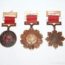 Militaria: LOTE DE 3 MEDALLAS CHINAS MILITARES DEL KUOMINTANG 1937-1945. Lote 210328310