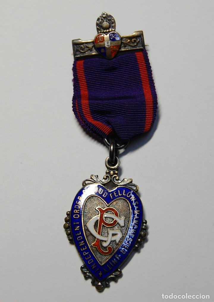MEDALLA MASONICA INGLESA DE PLATA.DE LOS ODD FELLOWS DE 1945.EXTRAORDINARIO ESTADO (Militar - Medallas Internacionales Originales)