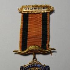 Militaria: MEDALLA MASONICA INGLESA DE PLATA MACIZA DEL AÑO 1969.EXTRAORDINARIO ESTADO. Lote 200142157