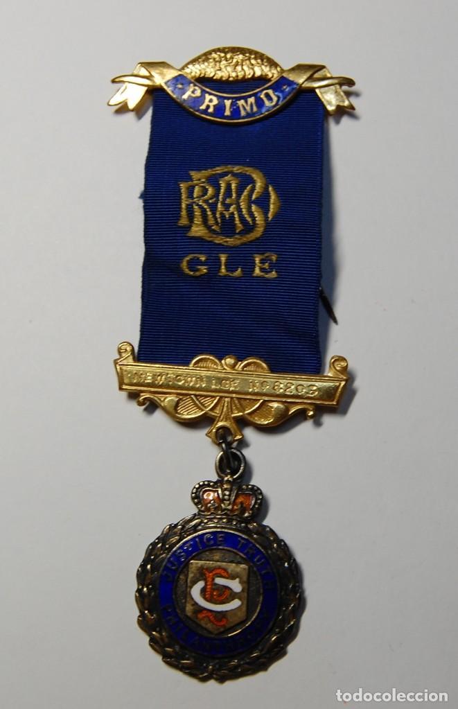 MEDALLA MASONICA INGLESA DE PLATA MACIZA DEL AÑO 1959.EXTRAORDINARIO ESTADO (Militar - Medallas Extranjeras Originales)