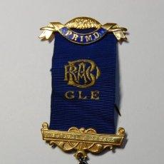 Militaria: MEDALLA MASONICA INGLESA DE PLATA MACIZA DEL AÑO 1959.EXTRAORDINARIO ESTADO. Lote 200143113