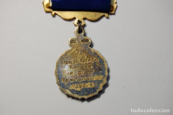 Militaria: MEDALLA MASONICA INGLESA DE PLATA MACIZA DEL AÑO 1959.EXTRAORDINARIO ESTADO - Foto 4 - 200143113