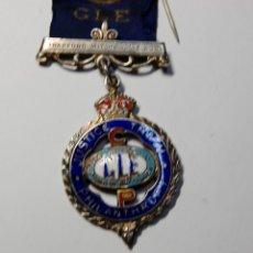 Militaria: MEDALLA MASONICA INGLESA DE PLATA MACIZA DEL AÑO 1925.EXTRAORDINARIO ESTADO. Lote 200144287