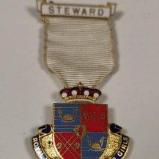 Militaria: MEDALLA STEWARD, ROYAL MASÓNICA INSTITUCIÓN DE CHICAS. Lote 200403438