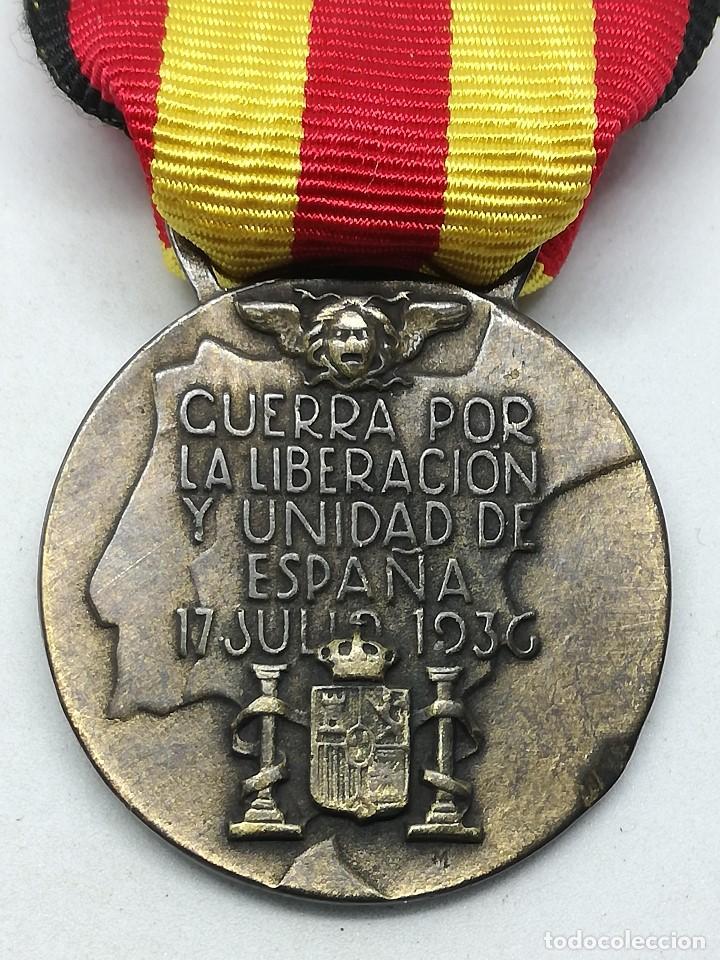RÉPLICA MEDALLA GUERRA POR LA LIBERACIÓN Y UNIDAD DE ESPAÑA. 17 JULIO 1936. CTV ITALIA. GUERRA CIVIL (Militar - Reproducciones y Réplicas de Medallas )