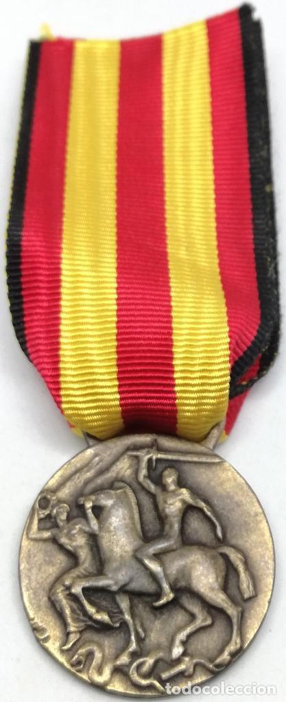 Militaria: RÉPLICA Medalla Guerra por la Liberación y Unidad de España. 17 Julio 1936. CTV Italia. Guerra Civil - Foto 3 - 200589307