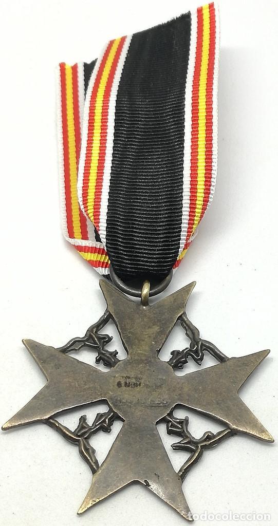 Militaria: RÉPLICA Medalla Cruz de España. Legión Cóndor. Categoría Bronce. Guerra Civil Española. 1936-1939 - Foto 3 - 200589467