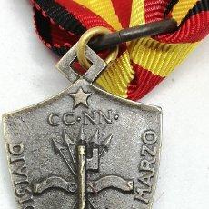 Militaria: RÉPLICA MEDALLA DIVISIÓN XXIII DE MARZO FIAMME NERE. ITALIA. MÁLAGA, GUADALAJARA, BILBAO, SANTANDER. Lote 200735067