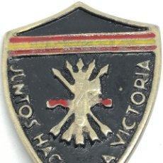 Militaria: RÉPLICA PLACA FALANGE FASCISMO. JUNTOS HACIA LA VICTORIA. VOLUNTARIOS DE GUERRA ITALIANOS ESPAÑOLES. Lote 200846436
