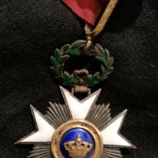Militaria: ORDRE DE LA COURONNE (BELGIQUE) . BELGIUM ORDER OF THE CROWN. KNIGHT CLASS.. Lote 201921031