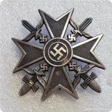 Militaria: INSIGNIA MEDALLA PLACA SPANIENKREUZ.CRUZ ESPAÑOLA ESPADAS.LEGION CONDOR GUERRA CIVIL NAZI EMBLEMA. Lote 202354683