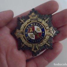 Militaria: ANTIGUA MEDALLA PLACA MERITO EN CAMPAÑA MODELO EGAÑA, GUERRA CIVIL Y DIVISION AZUL, ORIGINAL.. Lote 203170803