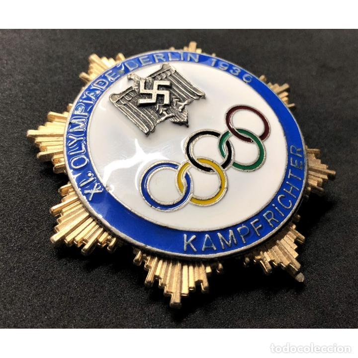 Militaria: INSIGNIA DE HONOR PARA JUECES Juegos Olímpicos Berlín 1936 Alemania Partido Nazi Tercer Reich NSDAP - Foto 3 - 203220050