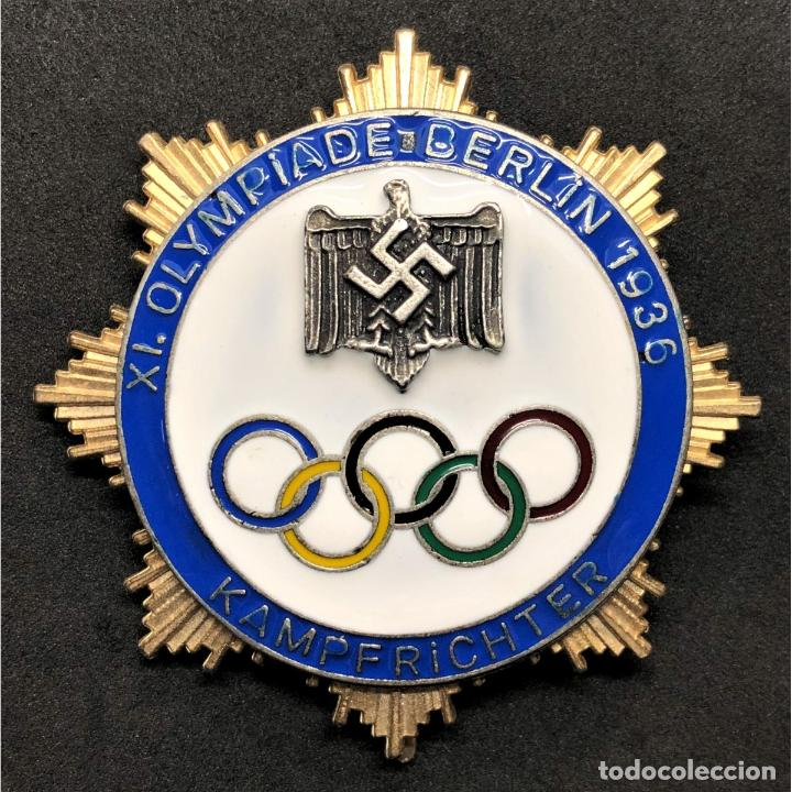 INSIGNIA DE HONOR PARA JUECES JUEGOS OLÍMPICOS BERLÍN 1936 ALEMANIA PARTIDO NAZI TERCER REICH NSDAP (Militar - Reproducciones y Réplicas de Medallas )