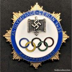Militaria: INSIGNIA DE HONOR PARA JUECES JUEGOS OLÍMPICOS BERLÍN 1936 ALEMANIA PARTIDO NAZI TERCER REICH NSDAP. Lote 203220050