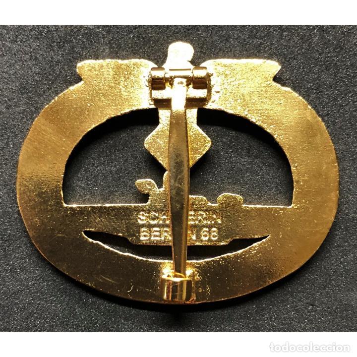 Militaria: DISTINTIVO DE COMBATE DE SUBMARINOS ORO Y DIAMANTES Alemania Nazi Tercer Reich Kriegsmarine - Foto 2 - 203221016