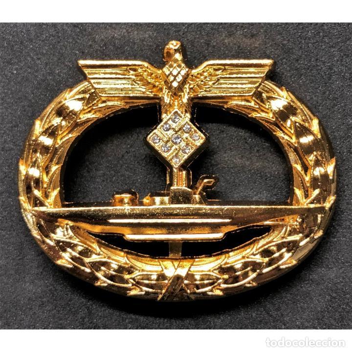 DISTINTIVO DE COMBATE DE SUBMARINOS ORO Y DIAMANTES ALEMANIA NAZI TERCER REICH KRIEGSMARINE (Militar - Reproducciones y Réplicas de Medallas )