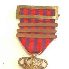 Militaria: MEDALLA DE CAMPAÑA DE CUBA 1895-1898 CON TRES PASADORES DE PERMANENCIA. Lote 203301593