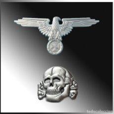 Militaria: PIN WAFFEN SS TOTENKOPF & AQUILA.PLATA. TERCER REICH. Lote 203411047