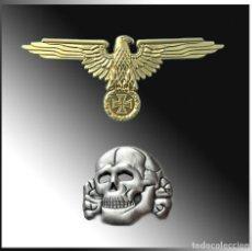 Militaria: PIN WAFFEN SS TOTENKOPF & AQUILA.ORO. TERCER REICH. Lote 223444138