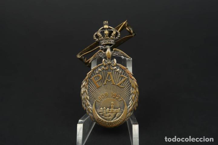 ANTIGUA MEDALLA PAZ MARUECOS (Militar - Medallas Españolas Originales )