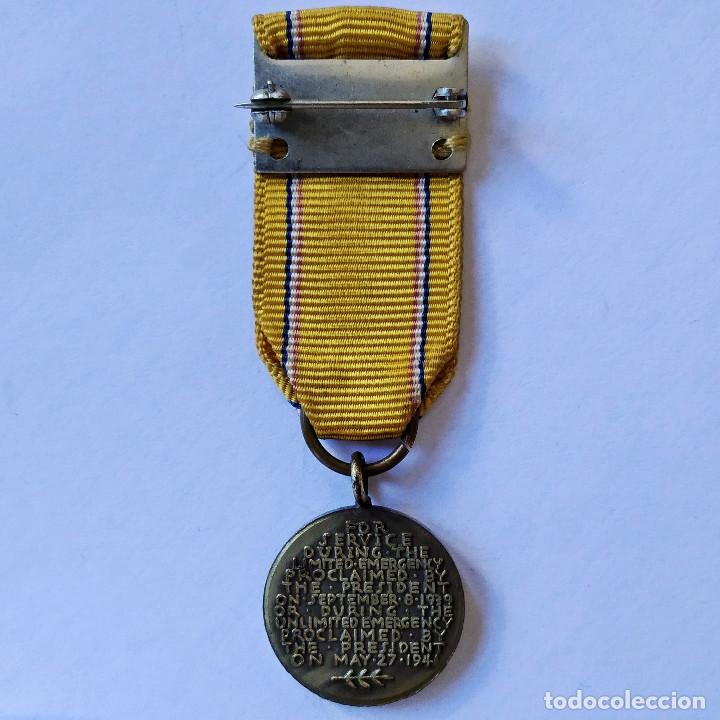 """Militaria: Insignia condecoración """"American Defense"""" de la Segunda Guerra Mundial, 1939-1941 (182). - Foto 2 - 203601027"""