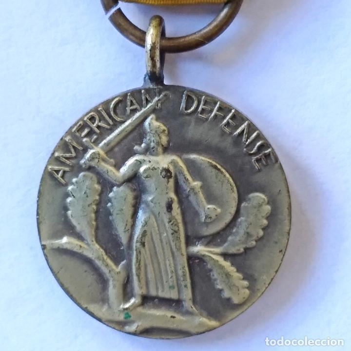 """Militaria: Insignia condecoración """"American Defense"""" de la Segunda Guerra Mundial, 1939-1941 (182). - Foto 3 - 203601027"""
