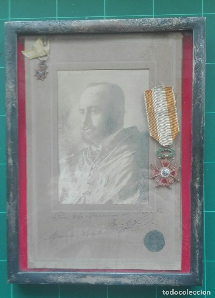 RETRATO CON MEDALLAS. 1915. ISABEL LA CATÓLICA (Militar - Medallas Españolas Originales )