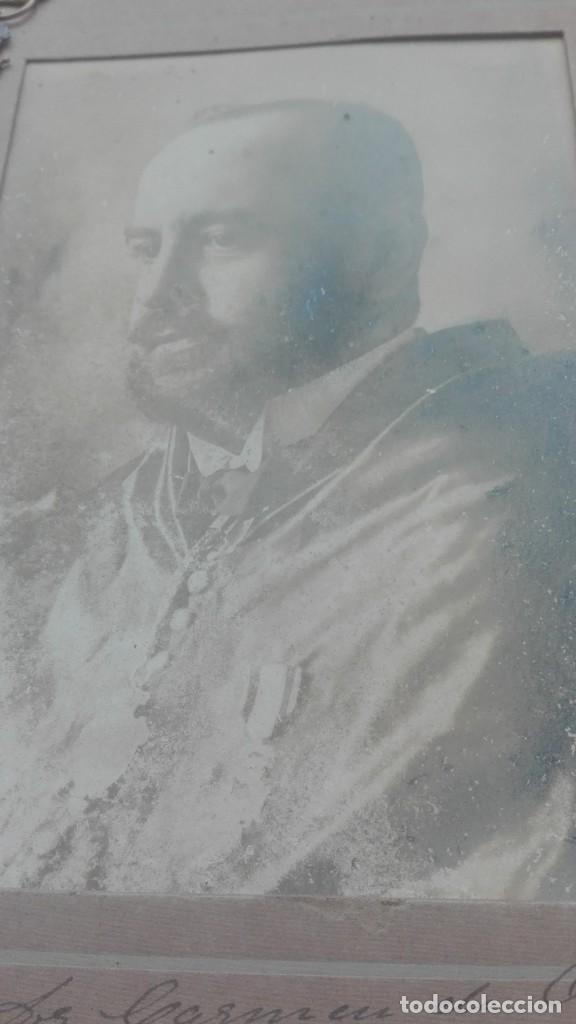 Militaria: Retrato con medallas. 1915. Isabel la Católica - Foto 2 - 203839413