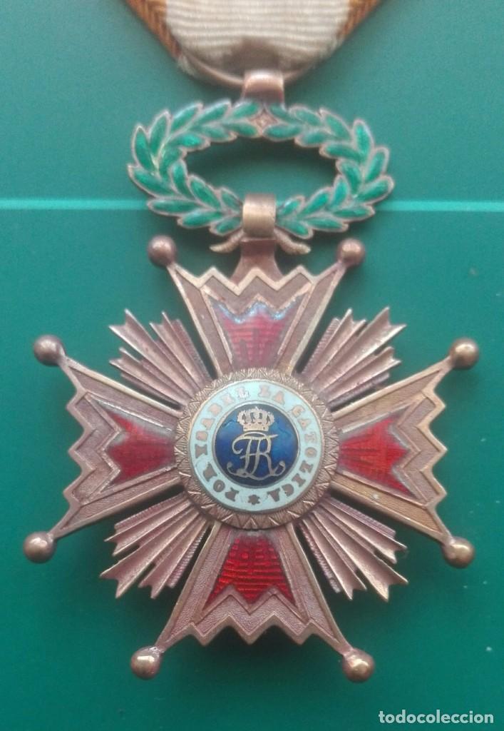 Militaria: Retrato con medallas. 1915. Isabel la Católica - Foto 9 - 203839413