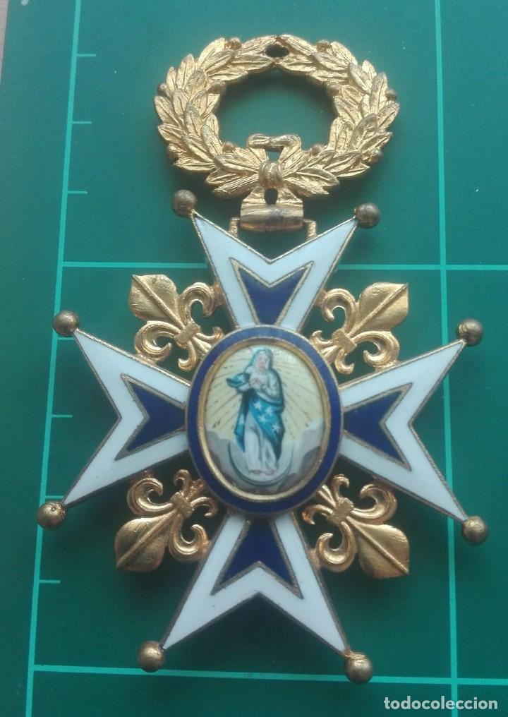 ENCOMIENDA ORDEN DE CARLOS III. ISABEL II, ALFONSO XII (Militar - Medallas Españolas Originales )