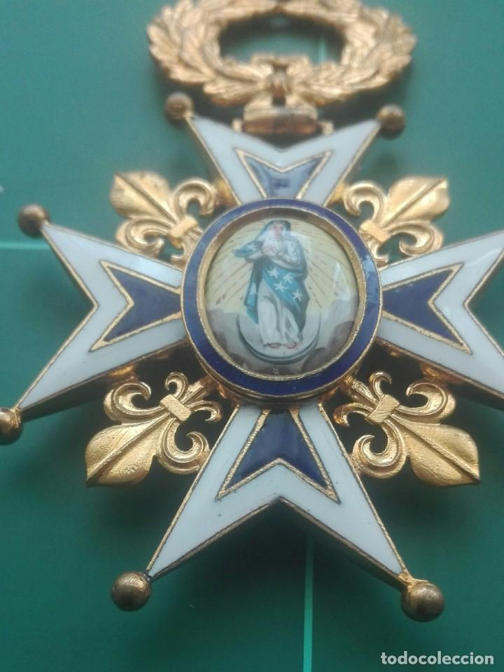 Militaria: Encomienda Orden de Carlos III. Isabel II, Alfonso XII - Foto 2 - 203840582