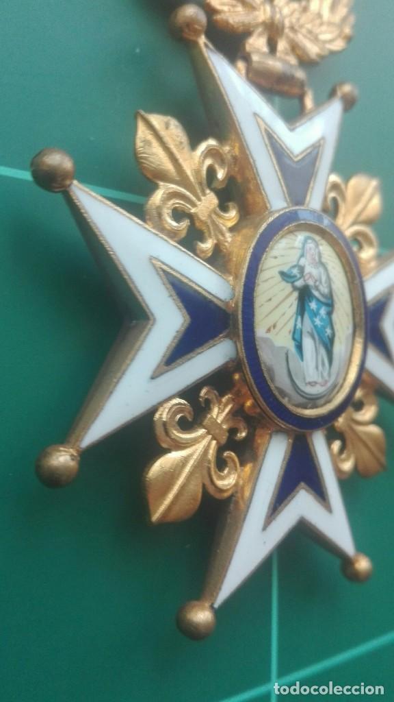 Militaria: Encomienda Orden de Carlos III. Isabel II, Alfonso XII - Foto 3 - 203840582