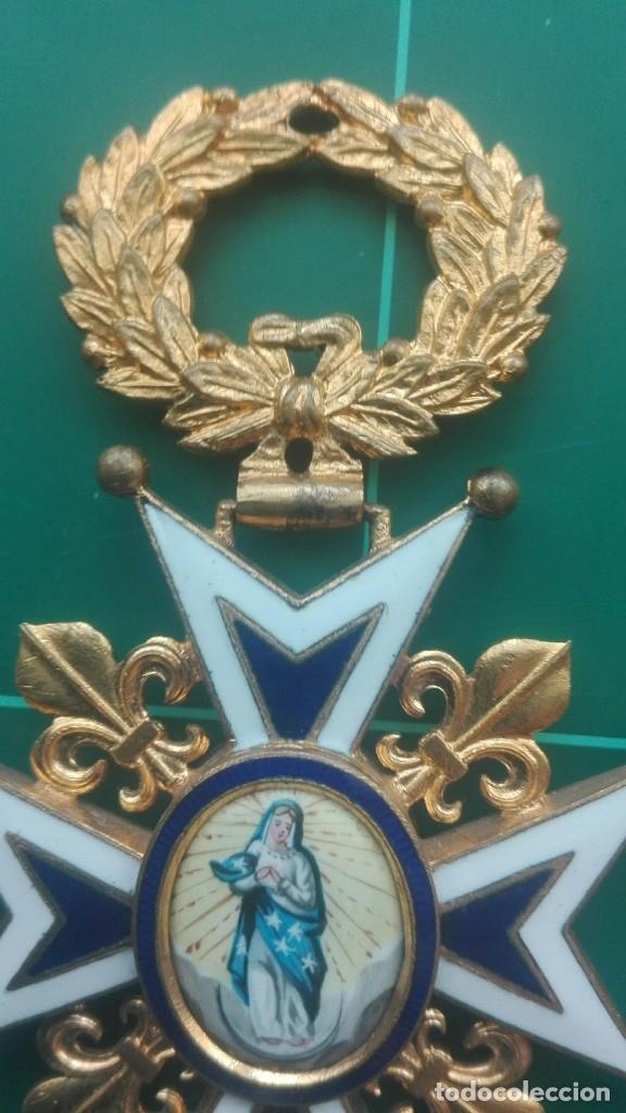 Militaria: Encomienda Orden de Carlos III. Isabel II, Alfonso XII - Foto 5 - 203840582