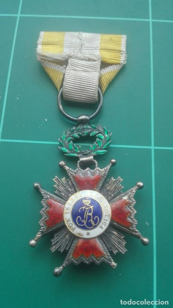 Militaria: Cruz Orden de Isabel la Católica - Foto 2 - 203840837