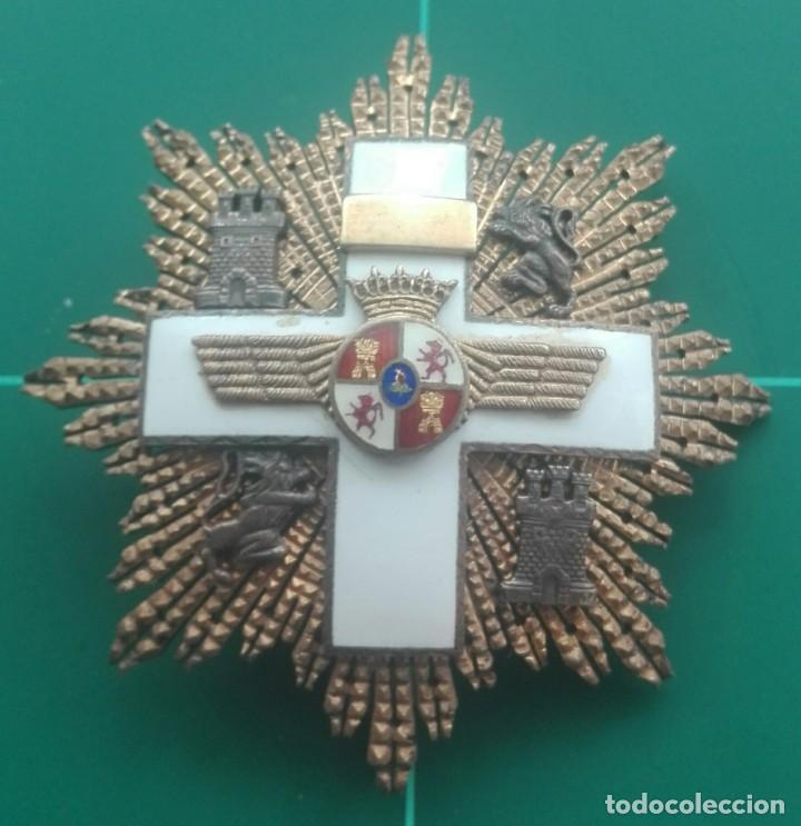 PLACA GRAN CRUZ MÉRITO AERONÁUTICO. FRANCO (Militar - Medallas Españolas Originales )