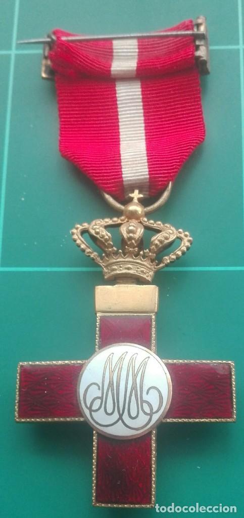 Militaria: Cruz Mérito Militar distintivo rojo. Alfonso XIII - Foto 2 - 203893623